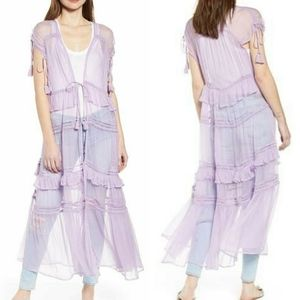 New Friend's Colony Tiered Lace Sheer Duster